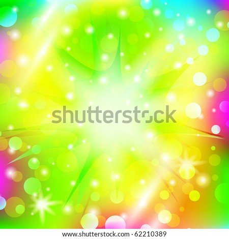 abstract explosion over multicolored bright holiday background - stock vector