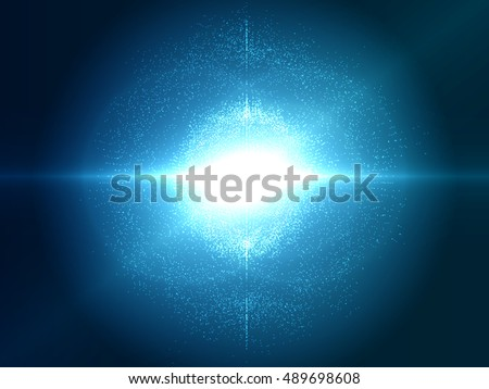 Abstract Explosion Vector Background with Particles | Technology Futuristic Design