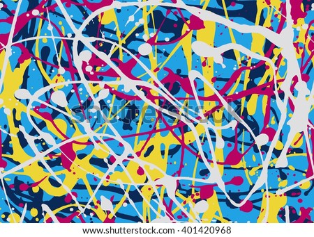 Abstract expressionism seamless pattern. style of drip painting. Vector Illustration - stock vector
