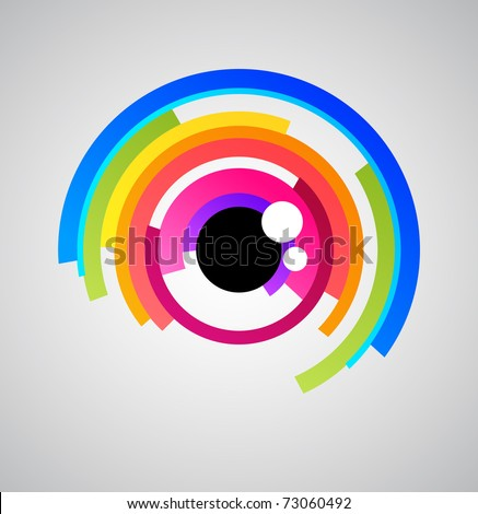 Abstract eye icon - stock vector