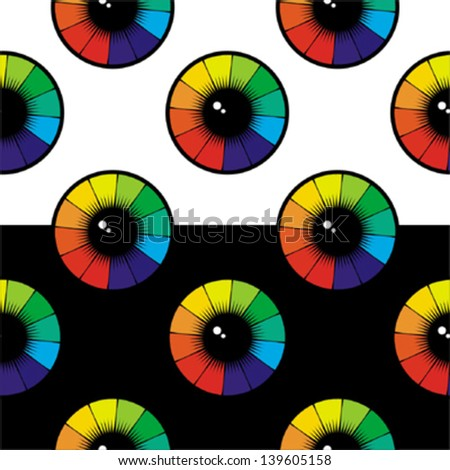 Abstract eye seamless pattern - stock vector