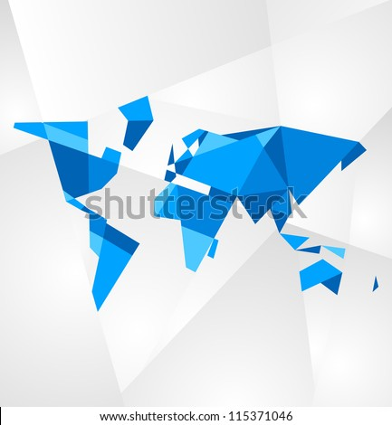 Abstract facet world map vector business vector de stock115371046 abstract facet world map vector business theme gumiabroncs Gallery