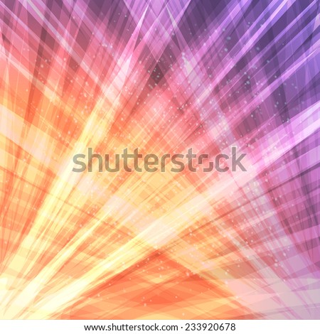 Abstract fantastic cosmic background with rays. - stock vector