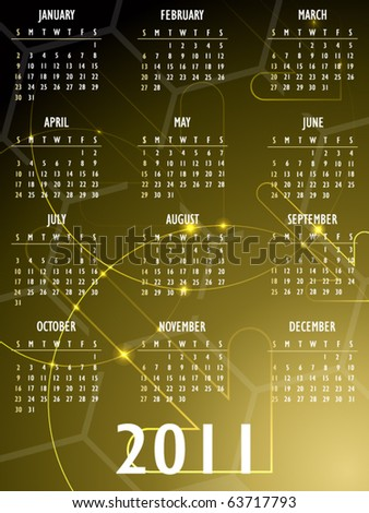 Abstract fantasy 2011 Calendar