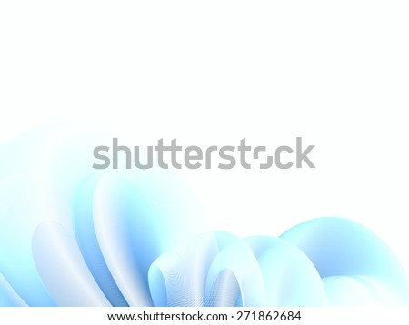 abstract fantasy composition, gradation effect without gradient - stock vector