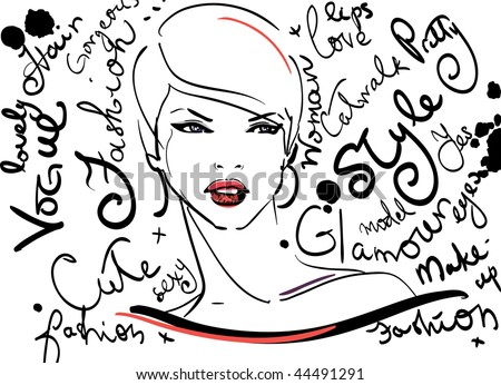 Abstract fashion illustration - stock vector