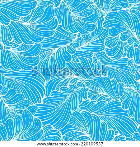 Abstract feather elements seamless pattern