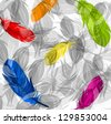 Abstract feathers background - stock vector