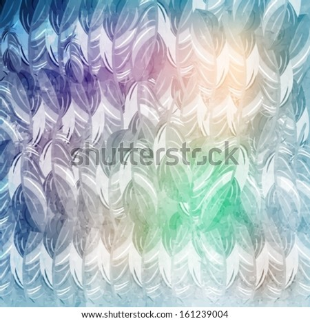 Abstract feathers background. Vector eps10. - stock vector