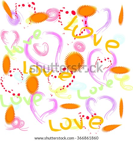 Abstract festive background - to design projects for Valentine's Day or any happy holidays.