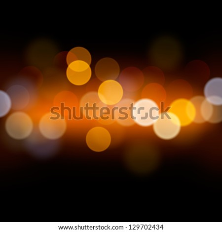 Abstract festive background with bokeh defocused lights, vector illustration. - stock vector