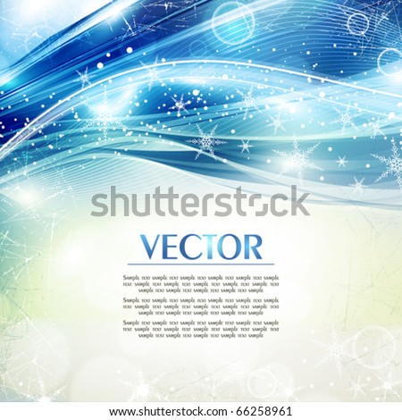 Abstract festive shiny greeting card in retro style. Vector - stock vector