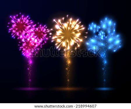 Abstract fireworks background. Vector eps10.