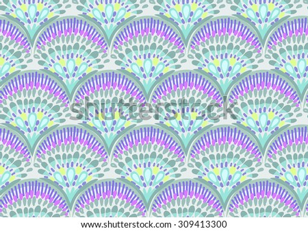 abstract fish scale print ~ seamless background - stock vector