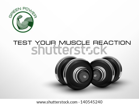 Abstract fitness background - vector