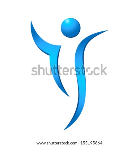 abstract fitness silhouette - stock vector