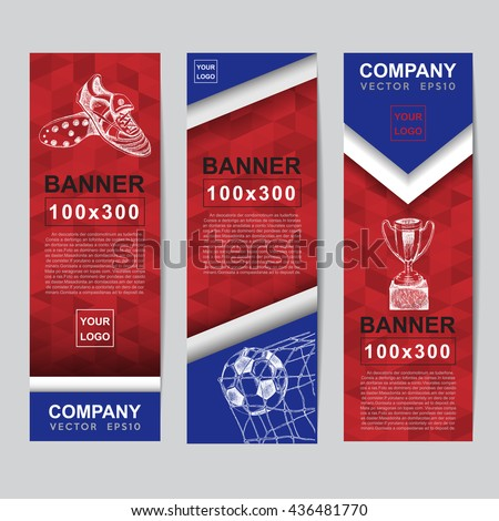 Abstract flag colour banner for Website Ads. - stock vector