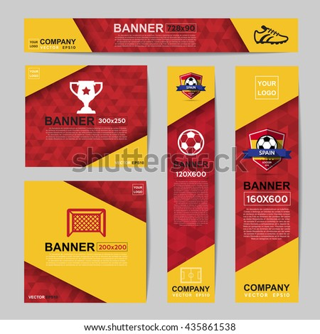 Abstract flag colour banner for Website Ads.Ratio,728x90,300x250,200x200,120x600,160x600 - stock vector