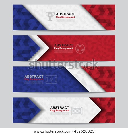 Abstract flag colour banner .Illustration eps10