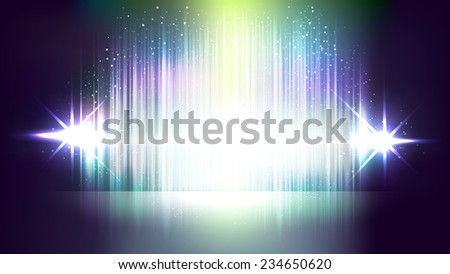 Abstract flashing light vector backgrounds - stock vector