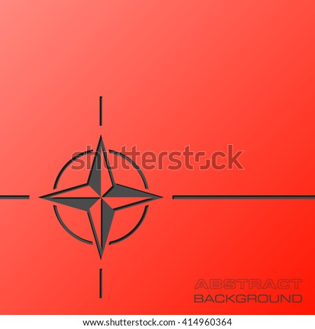 Abstract flat design concept with NATO star illustration on background. Vector collection - stock vector