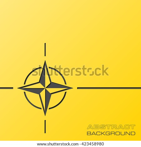 Abstract flat design concept with NATO star illustration on yellow background. Vector collection.  - stock vector