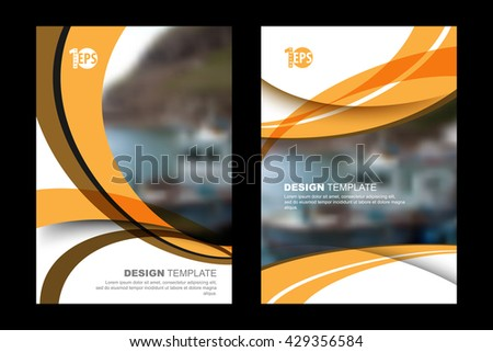 abstract flat layout wave elements marketing business material corporate design template. eps10 vector