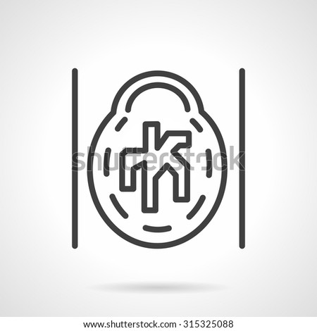 Abstract flat simple line style brain CAT vector icon. MRI,  MRA, magnetic resonance angiogram of the brain. Web design elements. - stock vector