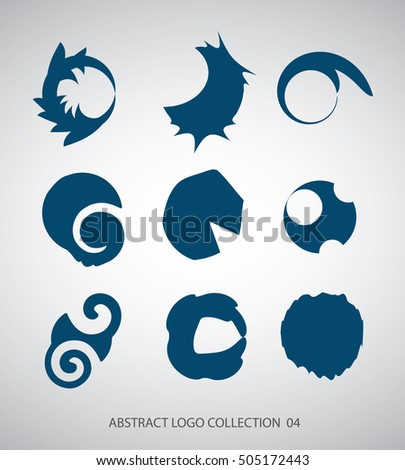 Abstract flat simple logo collection for business. Vector graphics.