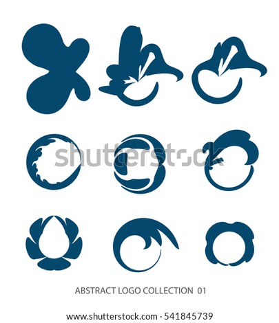 abstract flat simple logo collection business stock vector 541845739 rh shutterstock com vector graphics anniversary logos sports logos vector graphics