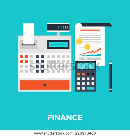 Abstract flat vector illustration of accounting concept. Elements for mobile and web applications. - stock vector