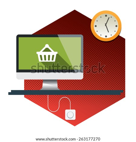 Abstract flat vector illustration of design and development concepts - stock vector