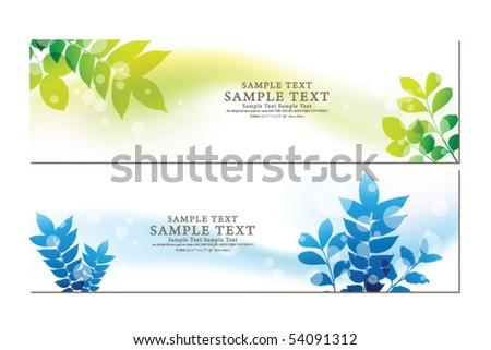 abstract flora banner 04 - stock vector