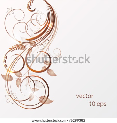 Abstract floral background. Element for design. - stock vector