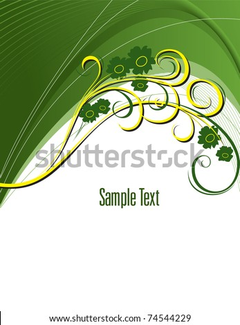 Abstract Floral Background. Eps10. Vector Illustration.