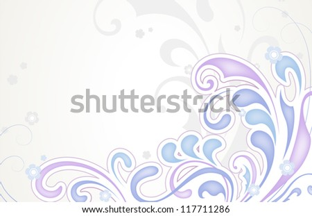 Abstract floral background in pastel colors. EPS10 vector format