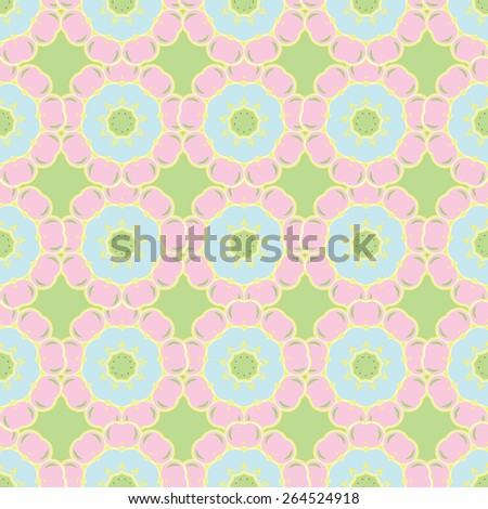 abstract floral background is a pattern Easter spring vector - stock vector
