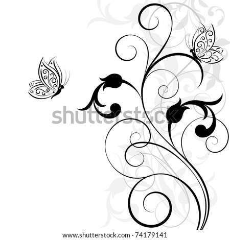 Abstract floral background. Vector. - stock vector