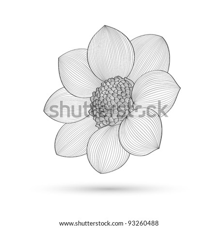 Abstract floral background. Vector flower dahlia. Element for design ...