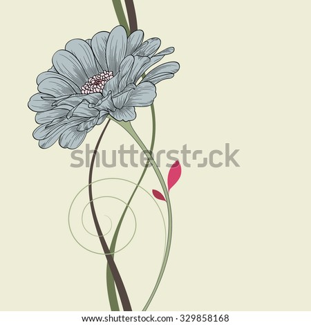 Abstract floral background. Vector flower zinnia. Element for design. - stock vector