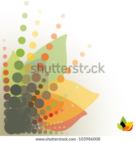 abstract floral background, vector illustration - stock vector