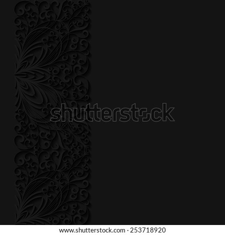Abstract floral background. Vector illustration  - stock vector