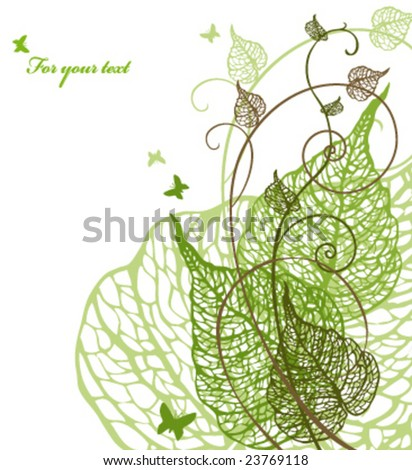 abstract floral background with place for your text - stock vector