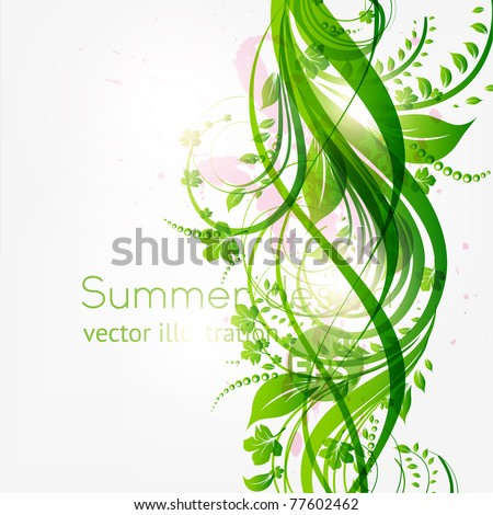 abstract floral background with place for your text. vector - stock vector