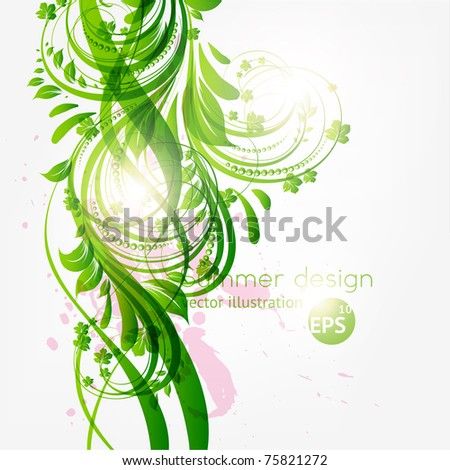 Abstract floral background with place for your text. Vector pattern. Eps 10.