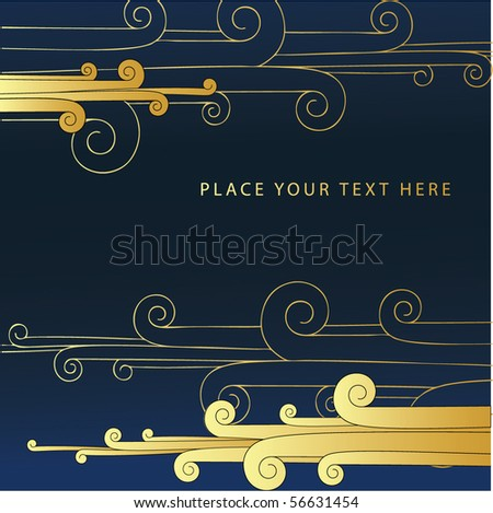 abstract floral background with space for text - stock vector