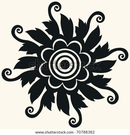 abstract floral decoration vector design element stock vector 2018 rh shutterstock com floral vector pattern border floral vector pattern border