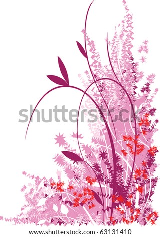 abstract floral design - stock vector