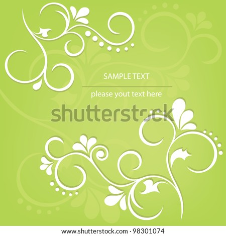 Abstract floral design. Vector illustration. - stock vector