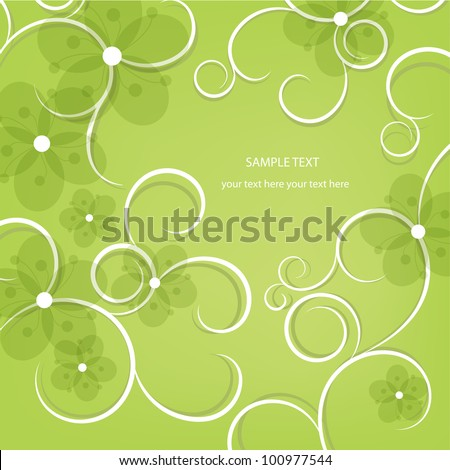 Abstract floral design. Vector illustration. Flora background. - stock vector